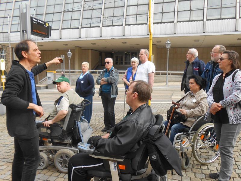 Selbsthilfegruppe Schlaganfall Plauen unternimmt einen Stadtrundgang mit Jörg Simmat als Stadtführer